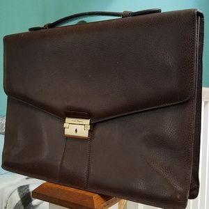 SALVATORE FERRAGAMO Men's Luxury Briefcase - Brown